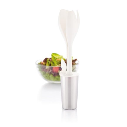 Tulip salade set, wit