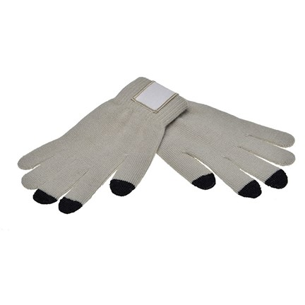 Touchscreen Handschoenen met Label Grey M/L