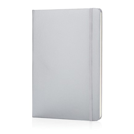 A5 Basic hardcover notitieboek, zilver