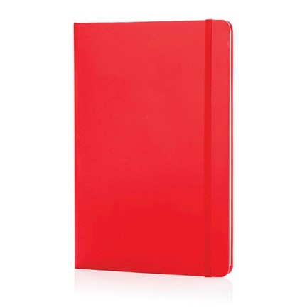 A5 Basic hardcover notitieboek, rood