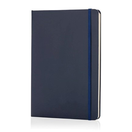 A5 Basic hardcover notitieboek, marineblauw