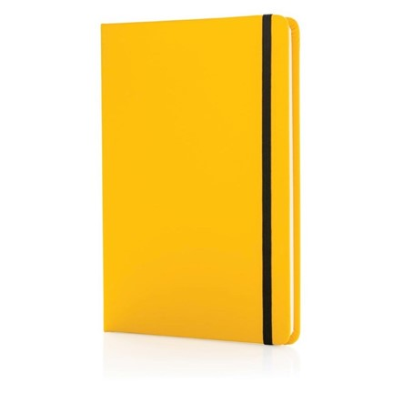 A5 Basic hardcover PU notitieboek, geel