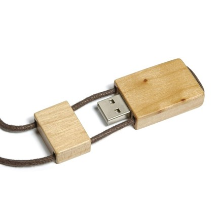 Wood USB FlashDrive Donkerbruin