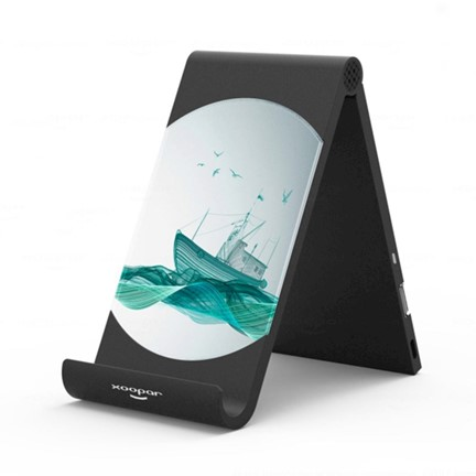 Xoopar Duo Slim Wireless Charging Dock - black