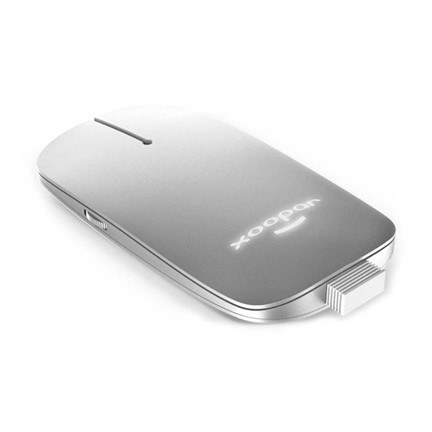 Xoopar Pokket 2 Wireless Mouse Deluxe - silver