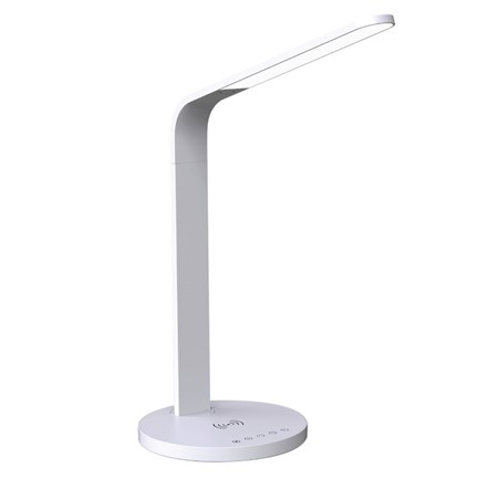 Wireless Charging Desk Lamp - white