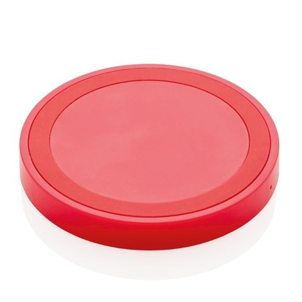 5W draadloze oplader rond, rood