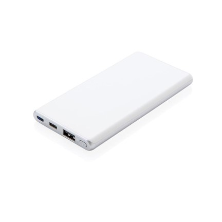 Ultra snelle 5.000 mAh powerbank, wit