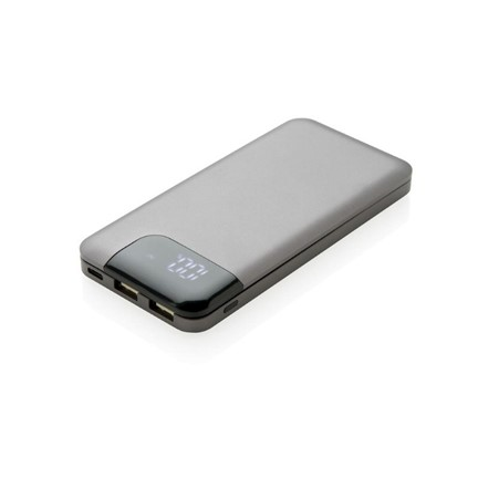 Swiss Peak 8.000 mAh powerbank, grijs